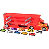 Teamsterz Plastic Launcher Transporter with 10 Cars (Red)
