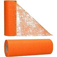 AmaCasa Chemin de Table Non tissé Courroie de Table Ruban de Table Non tissé Mariage Communion 23cm / 20m (Orange)