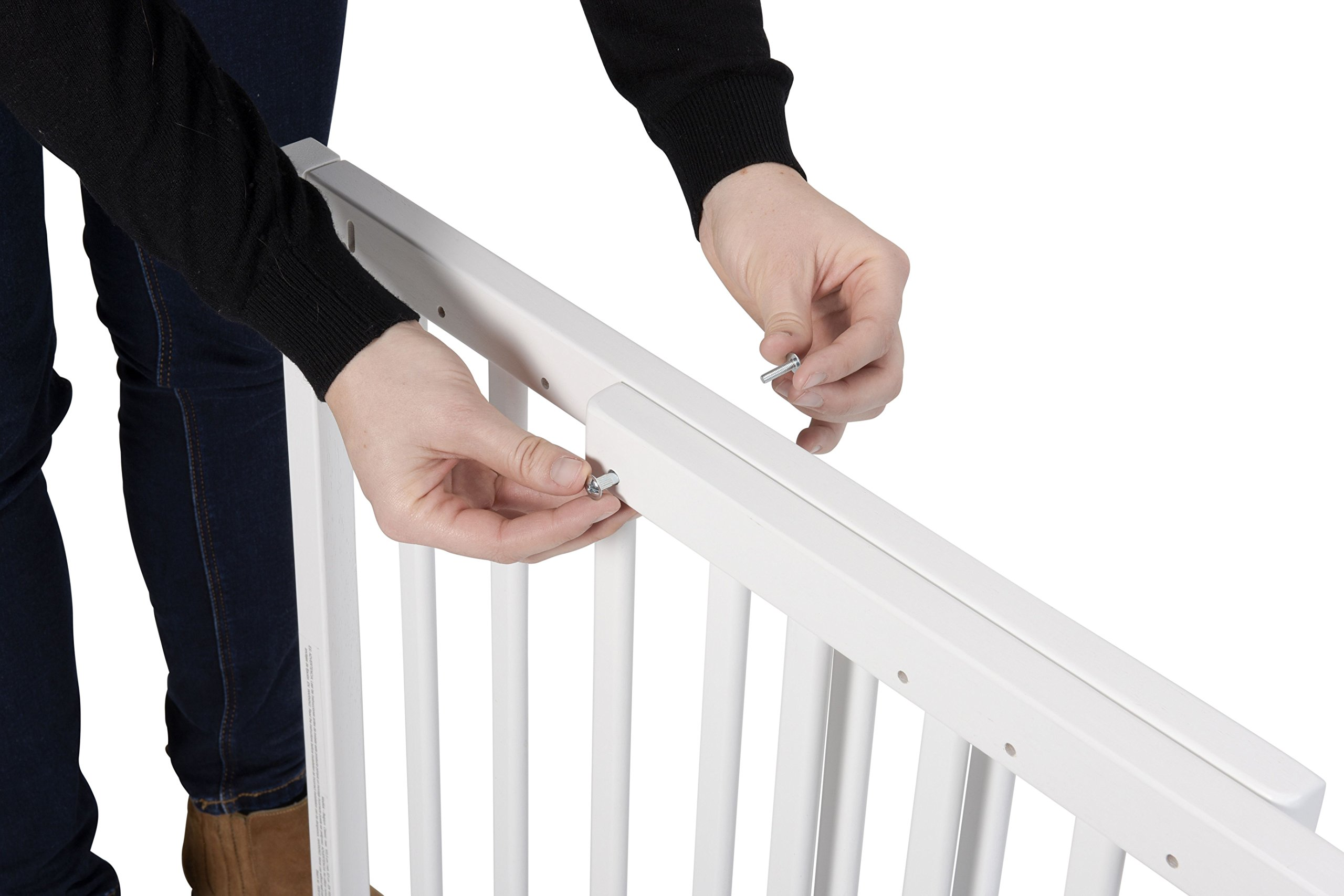 Badabulle Color Pop Safety Gate, White Badabulle Wooden safety gate for self-assembly Easy to open Swinging door 6
