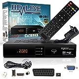 hd-line HD-310 Récepteur Satellite Numérique HDTV, DVB-S/S2, Full HD 1080P Noir
