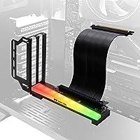 EZDIY-FAB Vertikale Grafikkartenhalterung mit ARGB 5V 3Pin LED, GPU-Halterung, Grafikkarte VGA Support Kit mit PCIE 3.0…