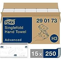 Tork Essuie-mains pliés en V Advanced - 290173 - Papier d'essuyage pour Distributeur H3 - Absorbant et indéchirable, 2…
