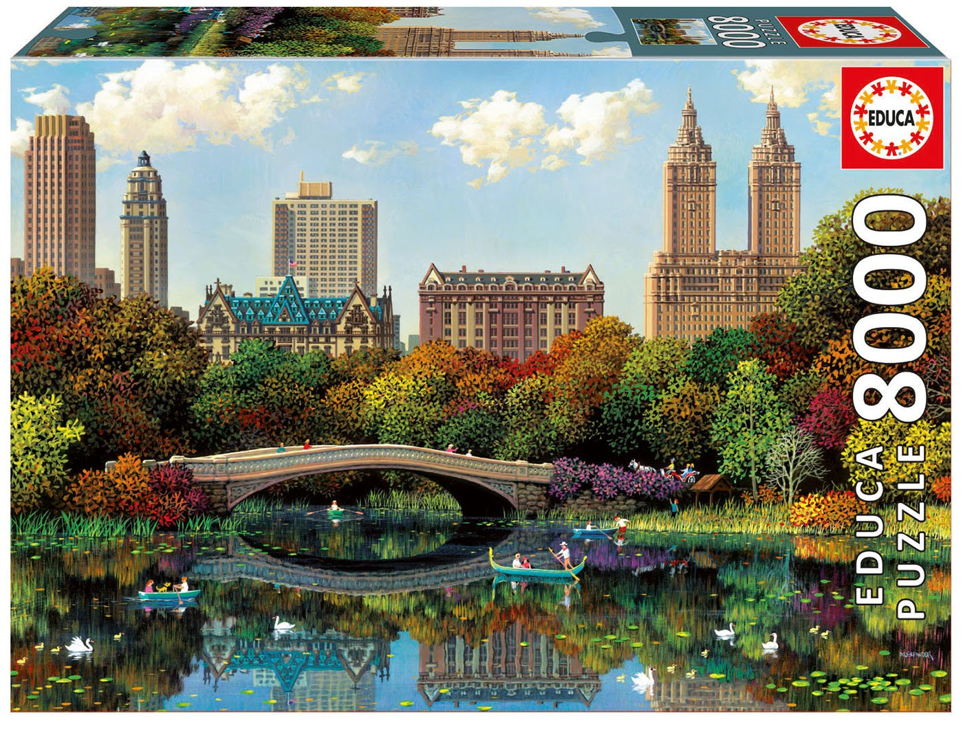 Educa Borrás – Puzzle Central Park Bow Bridge, 8000 piezas (17136)