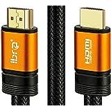IBRA Orange HDMI Câble 5M - UHD HDMI 2.0 (4K @ 60Hz) -18Gbps-28AWG Cordon tressé - Connecteurs plaqués Or - Ethernet, Retour Audio - Vidéo 4K 2160p, HD 1080p, 3D -Xbox Playstation PS3 PS4 PC TV