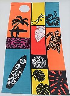 100/% Polyester St.Ioannidis/&Son 15073 Serviette de Plage en Microfibre Multicolore 95 x 175 cm