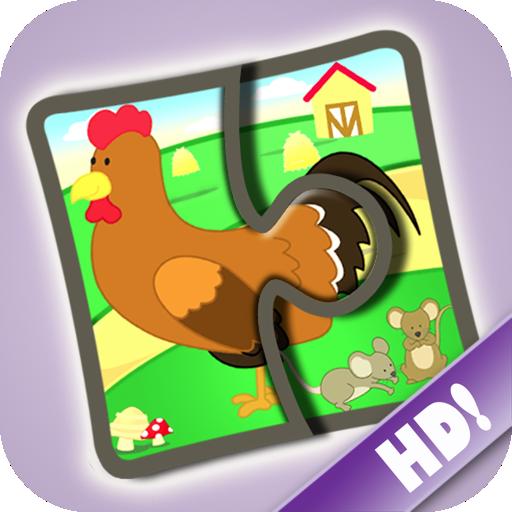 La-fattoria-puzzle-123-Gioco-per-imparare-le-parole-per-bambini