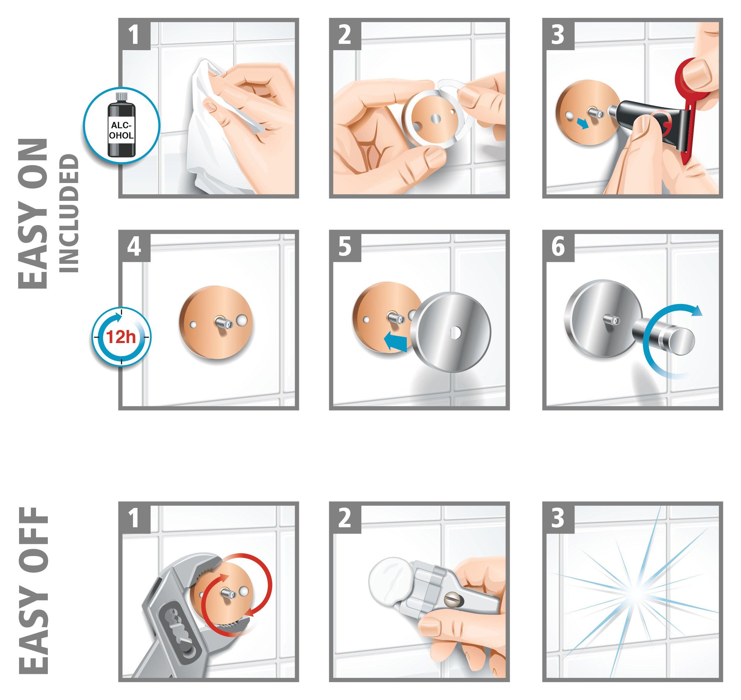 Tesa draad 130 x 210 x 220 mm Mensola angolare da doccia in ottone cromato