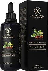 Jojobaöl Bio für Haut & Haar - Der SIEGER auf vergleich.org – 100ml in Lichtschutz Glas-flasche - 100% kaltgepresst & nativ, rein, natürlich & biologisch –für den ganzen Körper