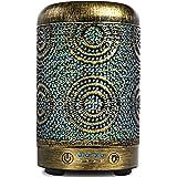SALKING Diffusore di Oli Essenziali, 100ml Metallo Diffusore di Aromi, Ultrasuoni Aromaterapia Diffusore con 7 Colori LED Luc