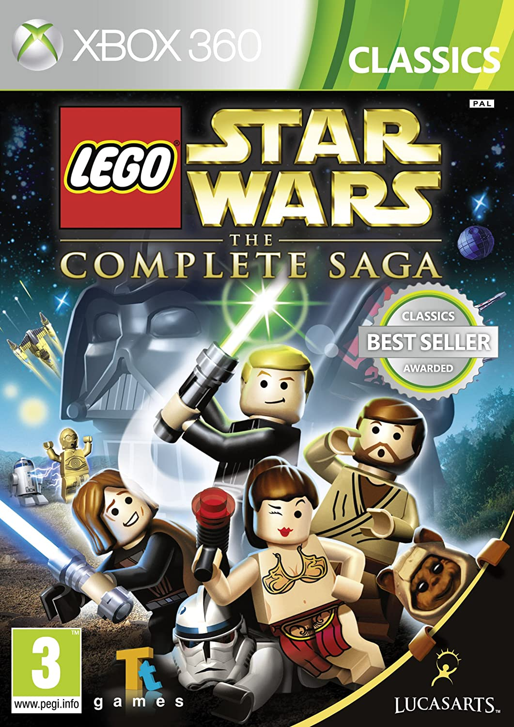 lego star wars the complete saga xbox 360 amazoncouk pc video games