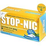 STOP-NIC Nicotine Gum 2mg, Cool Mint, Sugar-free, Stop Smoking Aid, (Bulk Pack - 300 Gums)