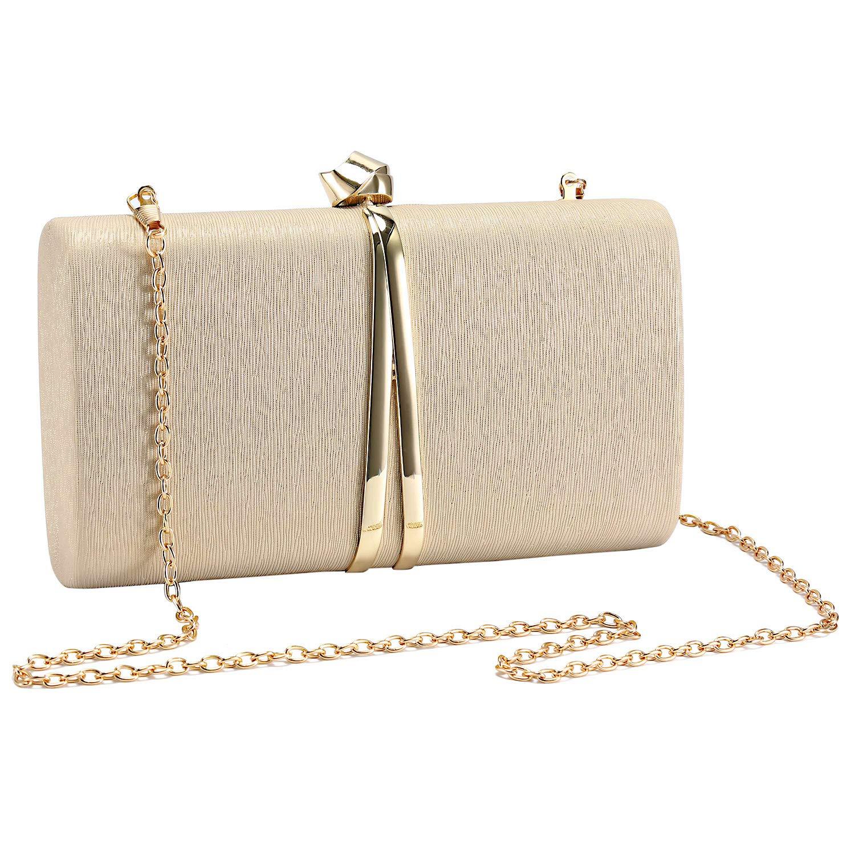 UBORSE Bolso de Fiesta Noche Moda para Mujer Embrague Hard Shell Clutches Elegante Bolso de Hombro Billetera del Banquete Boda Señoras
