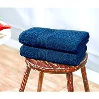 Swiss Republic Signature 2 Piece 630 GSM Cotton Bath Towel - Navy Blue