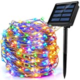 Ankway 200 LED Guirnalda Luces Solares, Cadena Luces Solares 8 Modos 22M/72ft Luces LED Navidad Impermeable IP65 para Exterio