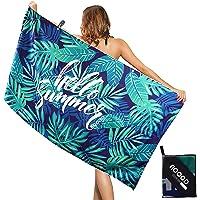 AOOGD Strandtuch Mikrofaser Handtuch,Strandhandtuch Schnell Trocknendes Fitnesshandtuch 160x80cm,Leichtes und Dünnes…