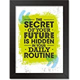 Ladecor Motivational/Funny Quote Inspirational poster Photo Frame for Wall, Home Office, Gym Study Room living room Bedroom D