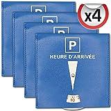 SQUATCH® | Lot de 4 disques de Stationnement pour Parking Zone Bleue | Simili Cuir Indéchirable | Format 15 x 15 cm