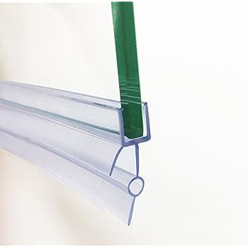 Plastic end strip glass shelves