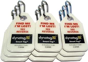 Dynotag® Web/GPS Enabled QR Code Smart Micro Zipper Tags: 9 (3x3strip)+SnapHooks