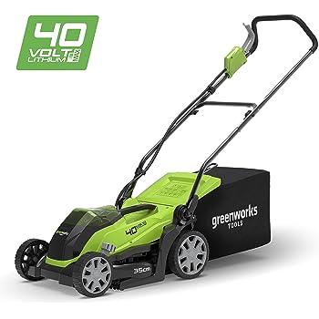 greenworks tondeuse gazon sans fil sur batterie 35cm 40v lithium ion sans batterie ni. Black Bedroom Furniture Sets. Home Design Ideas