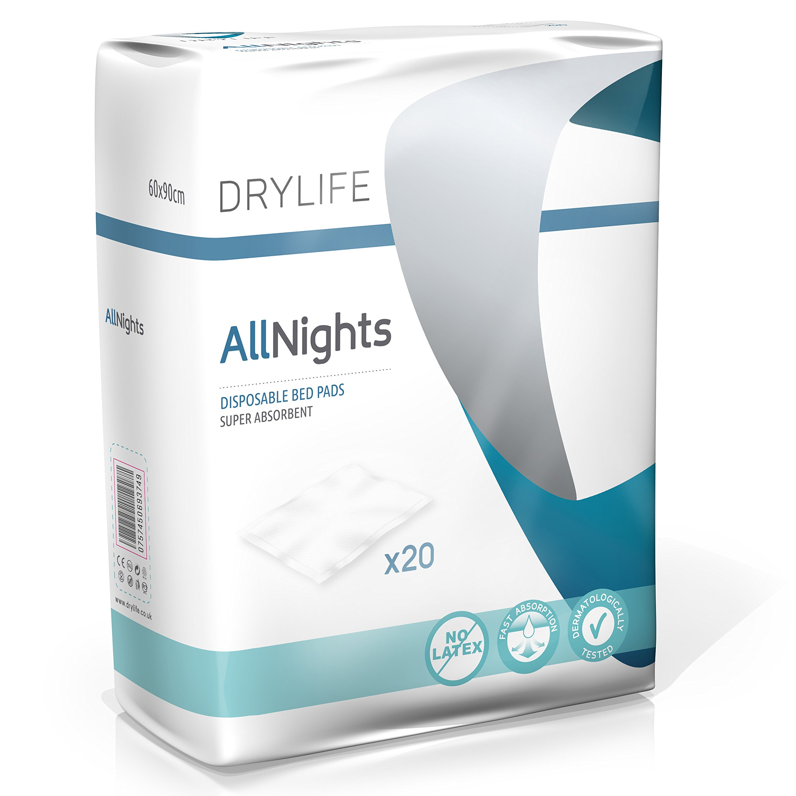 all night disposable bed pads 40x60cm super absorbent soft dry