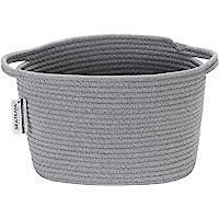 Sea Team – Panier de rangement à poignées, en corde tressée à fils de coton naturel - Bac pour chambre d'enfant - 25 cm