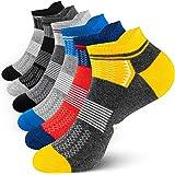 Newdora Men's Socks Ankle Socks Sports Cushioned Short Low Cut Socks Performance Trainer Nonslip Liner Anti-Blister Socks Bre