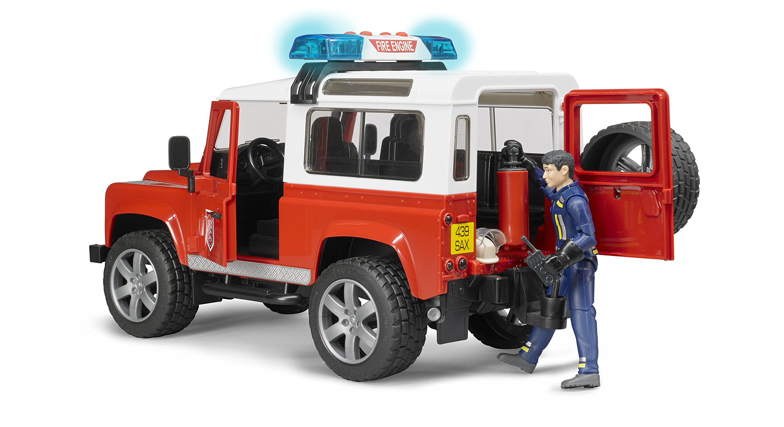 Bruder-Spielwaren-Bruder-02596-Land-Rover-Defender-Station-WagonPompieri-Colore-Rosso-02596