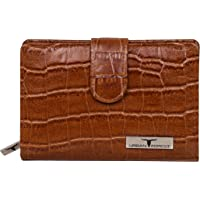 Urban Forest Arya Cognac Printed Leather Wallet for Women