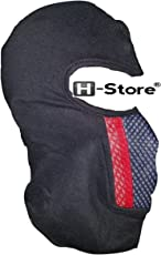H-Store Full Black With Red&Grey Filter Bike Riders Anti Pollution Dust Sun Protecion Full Face Cover Mask BIKE RIDERS (Black)