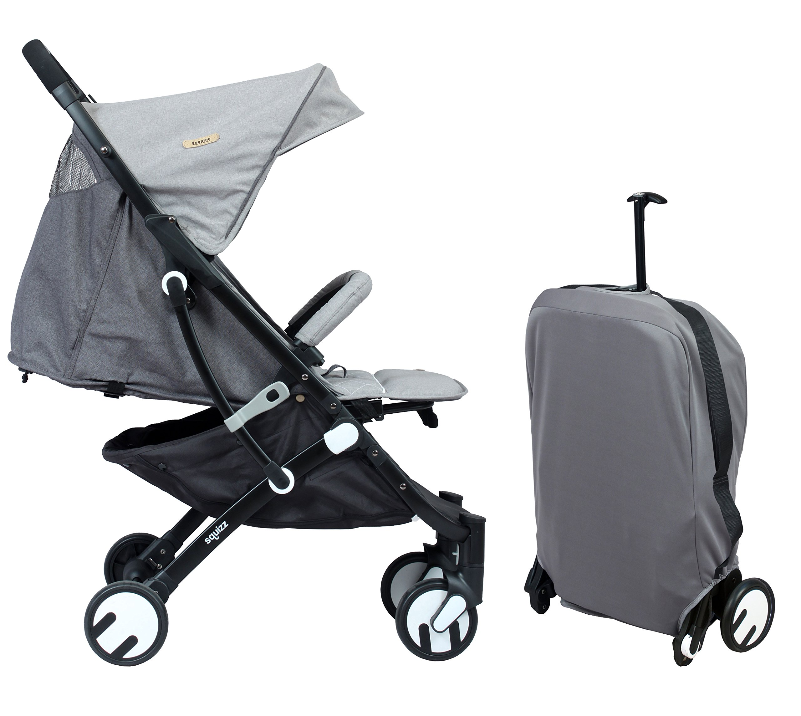 LOOPING Poussette compacte Squizz 2 Z15 - Gris chiné Looping Very compact babies's pushchair from birth up to 15kg. Smart pull-along handle that enables you to pull the pushchair. Folds up and unfolds with one hand. Large canopy to better protect your baby- Removable and opening bumper bar to keep your baby in place. 1