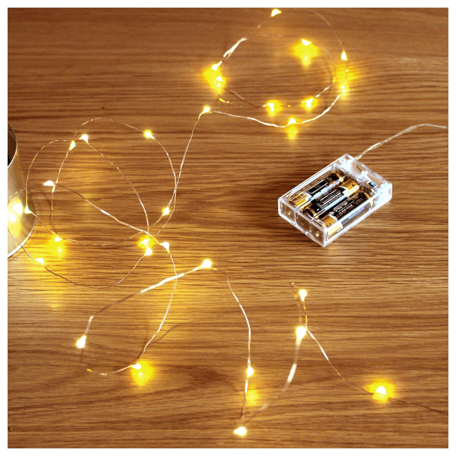 detailed look ad291 9963e FairyDecor Led String Lights 50 Leds Decorative Fairy Battery Powered  String Lights, Copper Wire light for Bedroom,Wedding(16ft/5m Warm White) |  Xmas ...