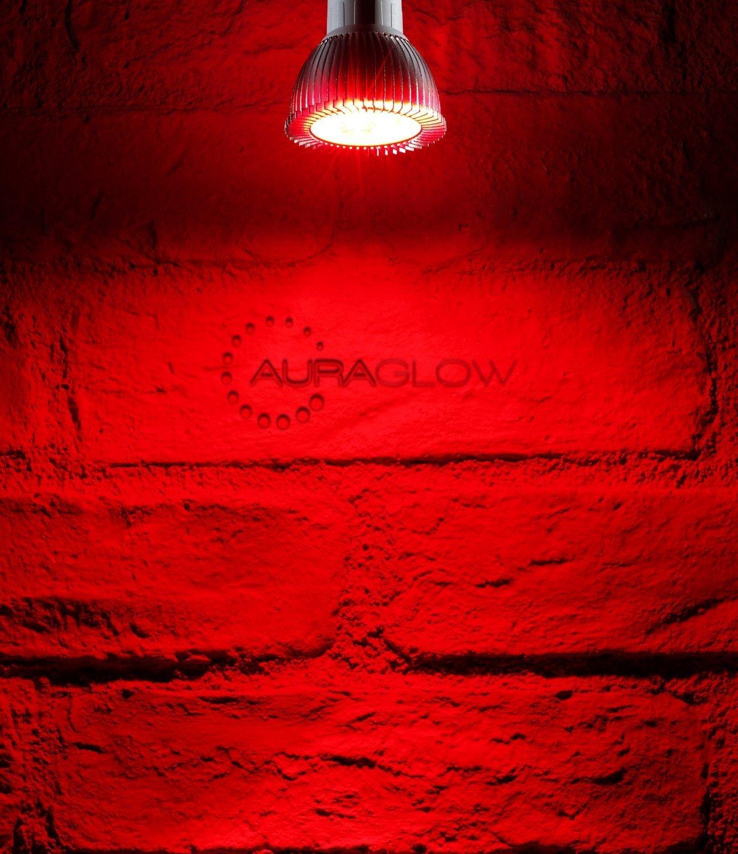 Auraglow LED Coloured Narrow Beam GU10 Spotlight Light Bulb - BLUE ... for Red Led Light Texture  51ane