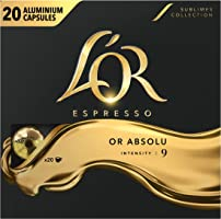 L'Or Espresso Café Or Absolu - Intensité 9 - 100 Capsules en Aluminium Compatibles avec les Machines Nespresso (Lot de...