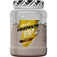 Bigmuscles Nutrition Premium Gold Whey 1Kg[Caffe Latte], Whey Protein Isolate & Whey Protein Concentrate, 25g Protein Per Serving, 0g Sugar, 5.5g BCAA & 4g Glutamic Acid