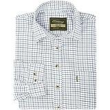 Walker and Hawkes - Camisa de Manga Larga para Hombre - Algodón de fácil Cuidado - Estilo leñador - Estampado a Cuadros