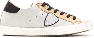 Philippe Model Sneakers Paris L DMIXAGE Grigia Scarpa 100% Pelle Made in Italy Donna CLLDXY41