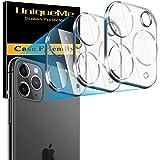 [3-pack] UnqiueMe kameralinsskydd för iPhone 11 Pro/iPhone 11 Pro Max,[9H hårdhet] [bubbelfri] Ultraklar tunn härdat glas skä