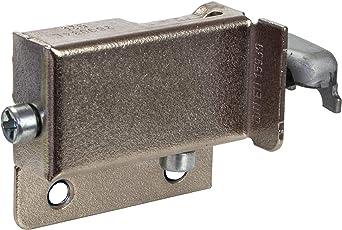 Gedotec Schrankaufhänger verstellbar 200 kg Schrankaufhängung Küche sichtbar Oberschrank | Anschlag: Rechts | Metall vernickelt | 1 Stück - Aufhänger zum Schrauben