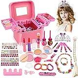 balnore Maquillaje para Niños, 34 Piezas Lavables Set de Maquillaje para Niñas con Caja de Maquillaje, Niños Fiesta, Cumpleañ