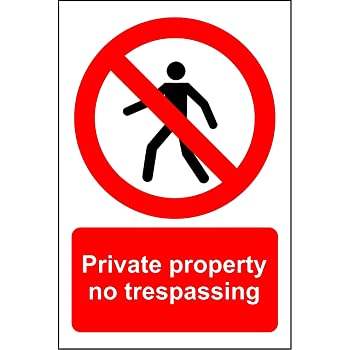 REAL PRIVATE PROPERTY NO TRESPASS STREET TRAFFIC  SIGNS