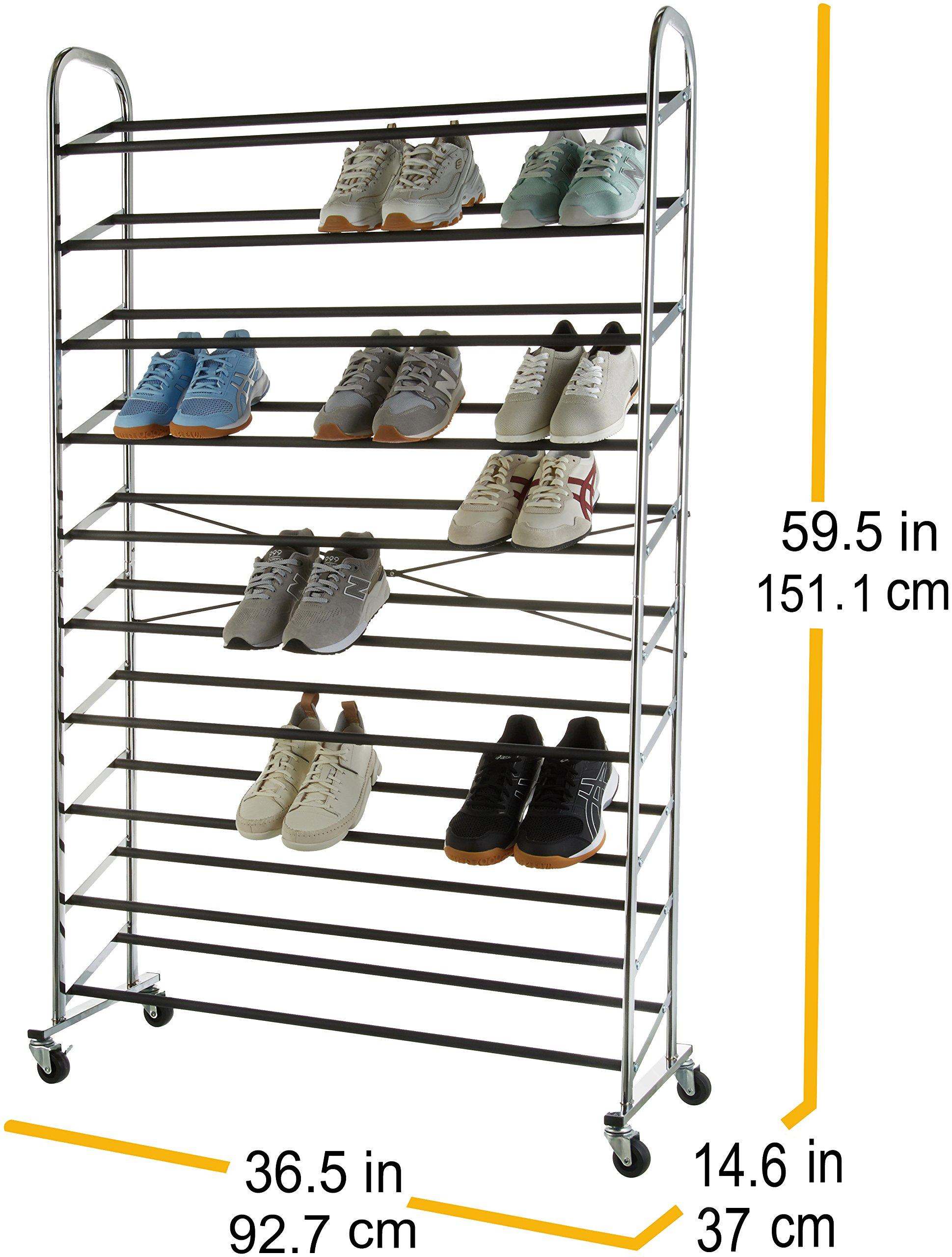 Schuhregal 50 Paar Schuhe.Amazonbasics Schuhregal Für 50 Paar Schuhe