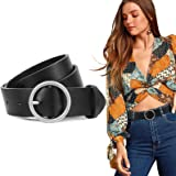 JASGOOD Fashion Women Leather Belt for Dress Pants with O-Ring Buckle, Ladies Waist Belt