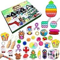 Advent Calendars 2021 Fidget Advent Calendar Toy Pop Set, 24DAYS Christmas Countdown Calendar Sensory Stress Relief Toys…