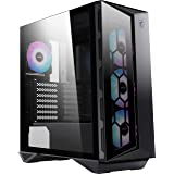 MSI MPG GUNGNIR 110R Mid-Tower Caja PC Gaming (Negra, 4 x 120mm Ventiladores ARGB, USB 3.2 Gen2 Type-C, Panel Cristal Templad