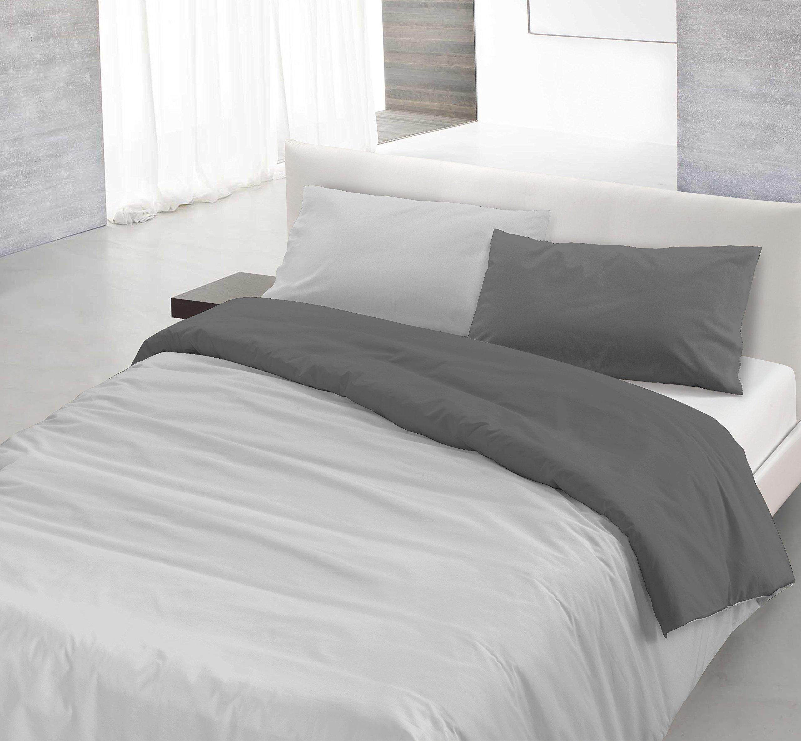 Copripiumino Natura.Italian Bed Linen Natural Color Parure Copripiumino Con Sacco E