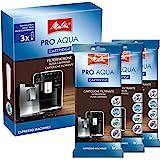 Melitta 224562 Lot de 3 cartouches filtrantes ProAqua pour machines à café Prévention du calcaire Utilisation simple 3 cartou