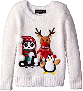 Blizzard Bay Boys Bow Tie Cat Ugly Christmas Sweater B77357