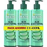 Garnier Fructis Tratamiento Capilar Aloe Secado al Aire, indicado para Pelo Normal y Largo - Pack de 3 x 400 ml