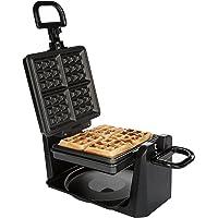 Ultratec Piastra per cialde per waffle belgi  girevole  acciaio inox nero  1 000 Watt